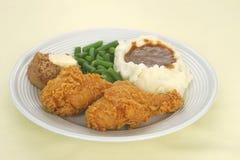 Het gebraden Diner van de Kip Royalty-vrije Stock Fotografie
