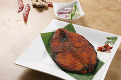 Het Gebraden gerecht van Masalavissen van Kerala, India Stock Afbeelding