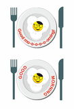 Het gebraden pictogram van de eiglimlach Royalty-vrije Stock Foto