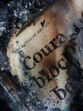 Het gebrande concept van de boekmoed Royalty-vrije Stock Foto's