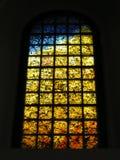 Het gebrandschilderd glas van de holocaust stock afbeeldingen