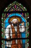 Het gebrandschilderd glas van de kerk Stock Foto
