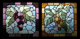 Het gebrandschilderd glas van druiven Stock Foto's