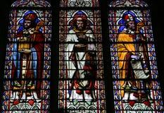 Het Gebrandschilderd glas van het Notre Dame de Paris Royalty-vrije Stock Foto