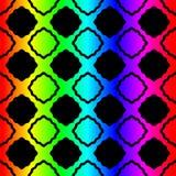 Het gebrandschilderde glas regelt regenboog naadloos patroon vector illustratie