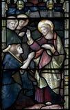 Het Gebrandschilderde glasvenster van de Christchurchkathedraal Stock Fotografie
