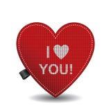 Het gebreide hart van de valentijnskaart Royalty-vrije Stock Fotografie