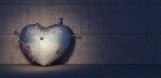Het gebroken hart of cardiologie 3d ziekteconcept geeft terug Stock Afbeelding