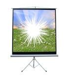 Het gebroken projectorscherm Royalty-vrije Stock Afbeelding