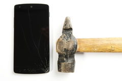 Het gebroken telefoonscherm Royalty-vrije Stock Foto
