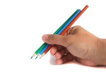 Het gebruiken van de potloden Royalty-vrije Stock Afbeeldingen