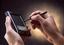 Het gebruiken van PDA Stock Afbeeldingen