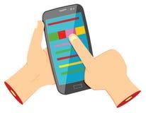 Het gebruiken van Smartphone Stock Fotografie
