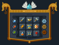 Het gebruikersinterface voor het spel stock illustratie