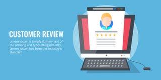Het gebruikersoverzicht, advies, classificatie, koppelt terug Het concept van de klantentevredenheid Stock Fotografie