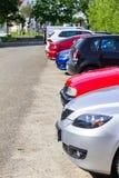 Het gebruikte auto's parkeren Royalty-vrije Stock Fotografie