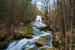 Het gebrul van In werking gestelde Waterval (Hogere Dalingen), Virginia, de V.S. royalty-vrije stock fotografie