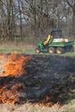 Het gecontroleerde Branden Stock Foto