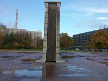 Het Gedaalde muurgedenkteken in Berlijn Royalty-vrije Stock Afbeeldingen