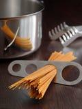Het gedeelte van de spaghetti Royalty-vrije Stock Foto's