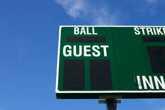 (Het gedeeltelijke) scorebord van het honkbal Stock Afbeelding