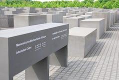 Het gedenkteken aan de Moorde Joden van Europa Stock Fotografie