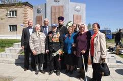Het gedenkteken aan militairen die in Afghanistan, in het Gomel-gebied van de Republiek Wit-Rusland stierven Stock Afbeelding