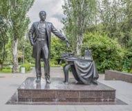 Het gedenkteken de burgemeester van rostov-op-trekt Andrey Baikov aan Stock Fotografie