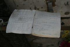 Het gedenkteken van de Beslanschool, waar de terroristische aanslag in 2004 was stock fotografie