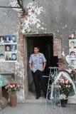Het gedenkteken van de Beslanschool, waar de terroristische aanslag in 2004 was royalty-vrije stock foto