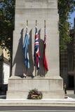 Het Gedenkteken van de Cenotaafoorlog op 19 April, 2015, door Edwin Lutyens wordt en in 1920 die voor wordt gebouwd ontworpen die stock afbeeldingen