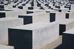Het Gedenkteken van de holocaust in Berlijn stock afbeelding