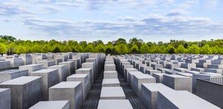 Het gedenkteken van de holocaust in Berlijn Stock Foto