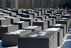 Het gedenkteken van de Holocaust in Berlijn, Duitsland stock foto's