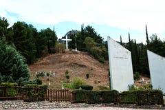 Het Gedenkteken van de Kalavrytaslachting, de Peloponnesus, Griekenland stock foto