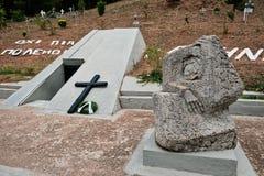 Het Gedenkteken van de Kalavrytaslachting, de Peloponnesus, Griekenland royalty-vrije stock foto's