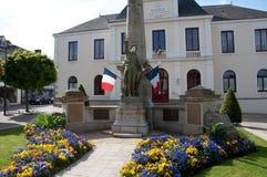 Het Gedenkteken van de oorlog in Guer, Frankrijk Stock Fotografie