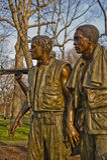 Het Gedenkteken van de Oorlog van Vietnam in Washington DC. Royalty-vrije Stock Foto's