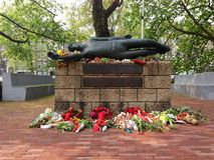 Het gedenkteken van de uitvoeringsplaats in Weteringplantsoen in Amsterdam, Nederland Royalty-vrije Stock Foto