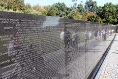 Het Gedenkteken van de Veteranen van de Oorlog van Vietnam Stock Afbeelding