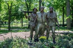 Het Gedenkteken van de Veteranen van de Oorlog van Vietnam Stock Afbeeldingen