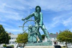 Het Gedenkteken van de Visser van Gloucester, Massachusetts stock foto