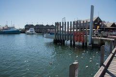 Het Gedenkteken van de Vissersboothaven stock afbeelding