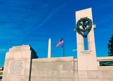 Het gedenkteken van de Wereldoorlog II in Washington DC Royalty-vrije Stock Foto's