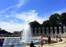 Het gedenkteken van de Wereldoorlog II in Washington DC Stock Foto