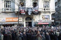 Het gedenkteken van Dink van Hrant in Istanboel een show van diversit Stock Fotografie