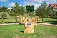 Het gedenkteken van het vredesbosje in een park, Oost-Perth Stock Afbeeldingen