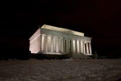 Het Gedenkteken van Lincoln bij Nacht Stock Afbeeldingen