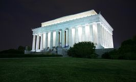 Het Gedenkteken van Lincoln bij nacht royalty-vrije stock fotografie