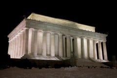 Het Gedenkteken van Lincoln na DarK Stock Foto